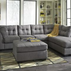 2 Piece Sectional Sofa Chaise Movie Theatre 2-piece W/ Sleeper & Right By ...