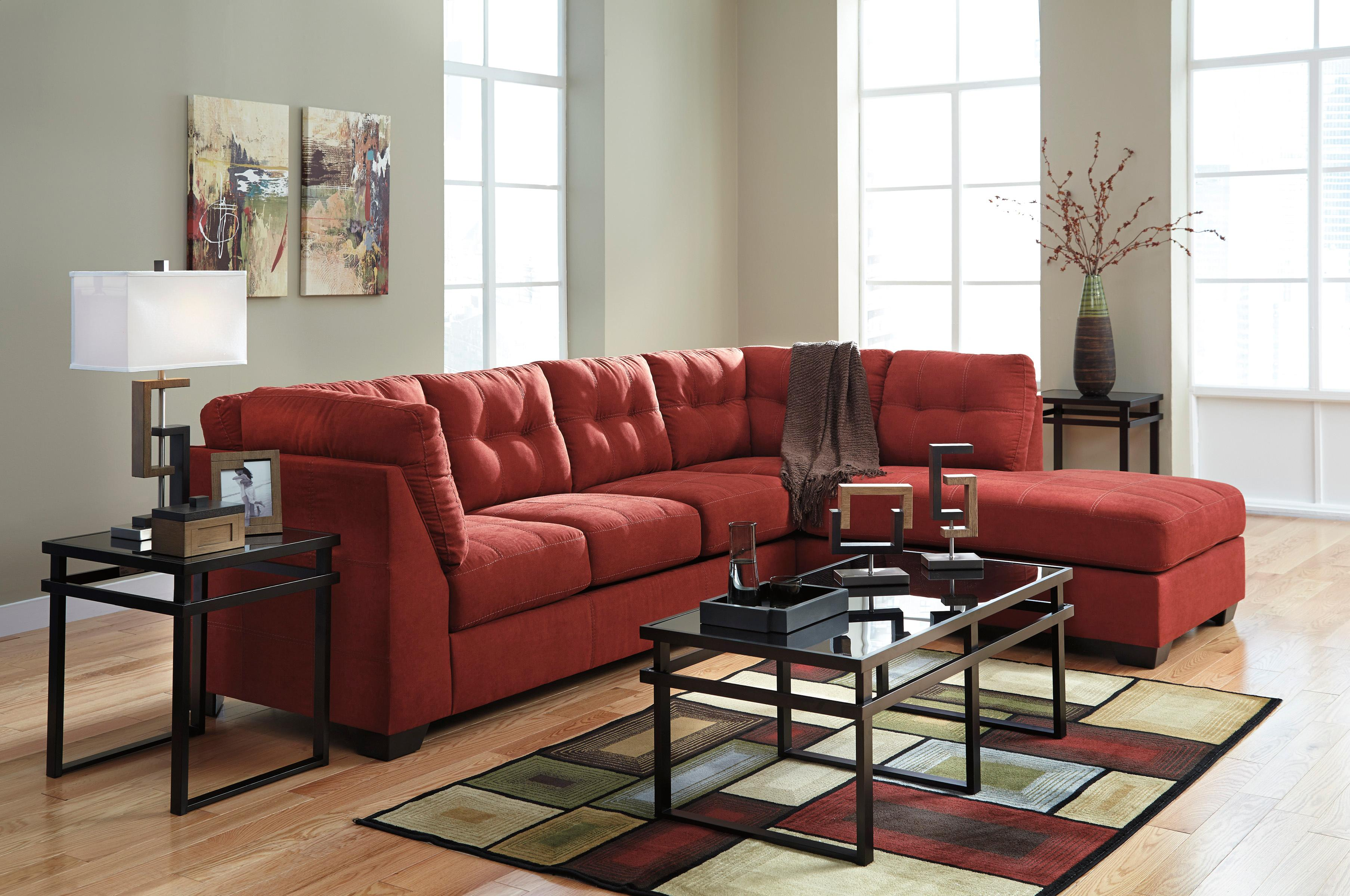 2 Piece Sectional W Sleeper Sofa Amp Right Chaise By Benchcraft Wolf And Gardiner Wolf Furniture