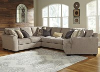 4-Piece Sectional with Right Cuddler by Benchcraft | Wolf ...