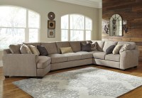 4-Piece Sectional with Left Cuddler & Armless Sofa by ...