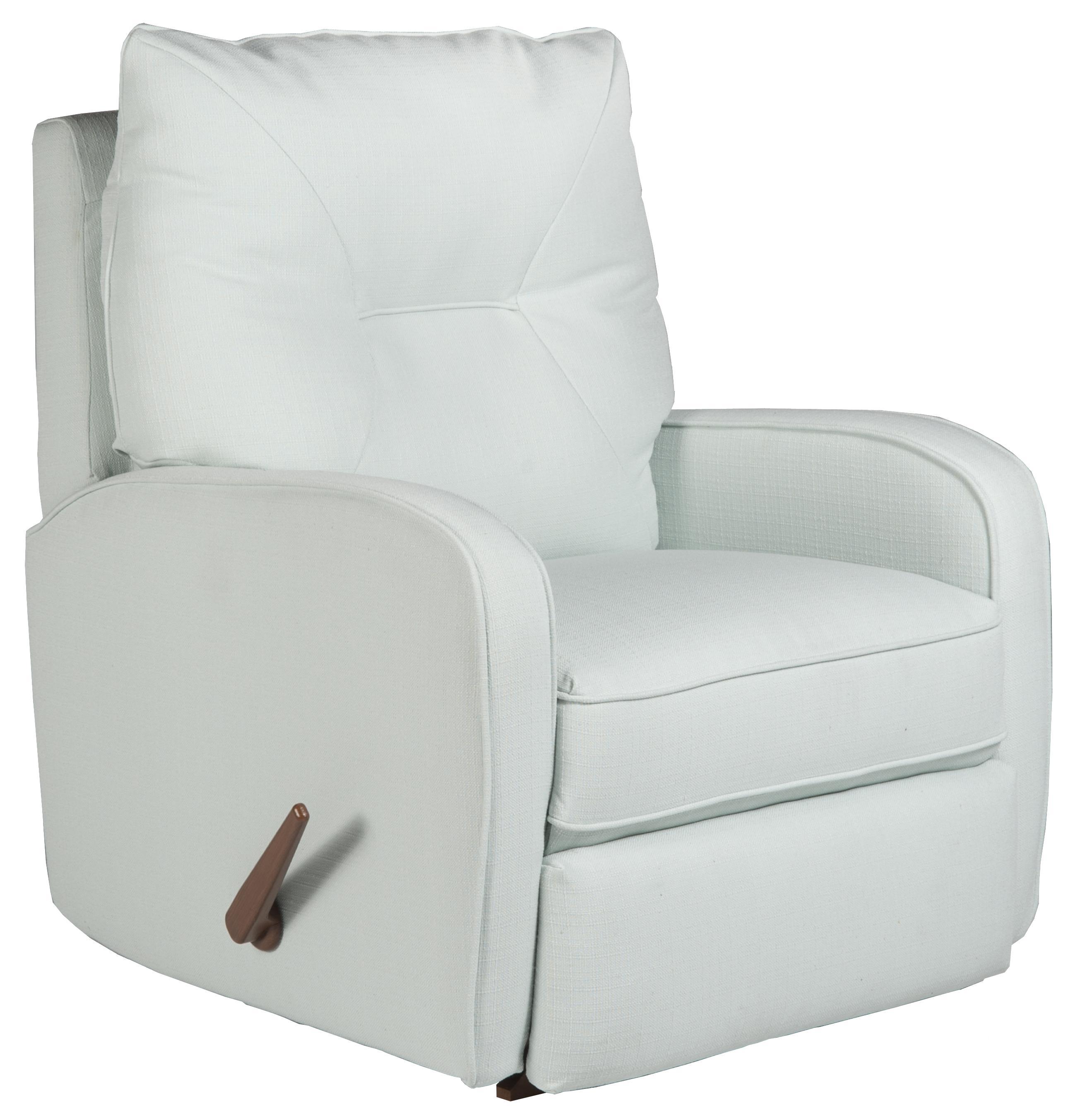 contemporary ingall swivel rocker recliner in sleek modern style