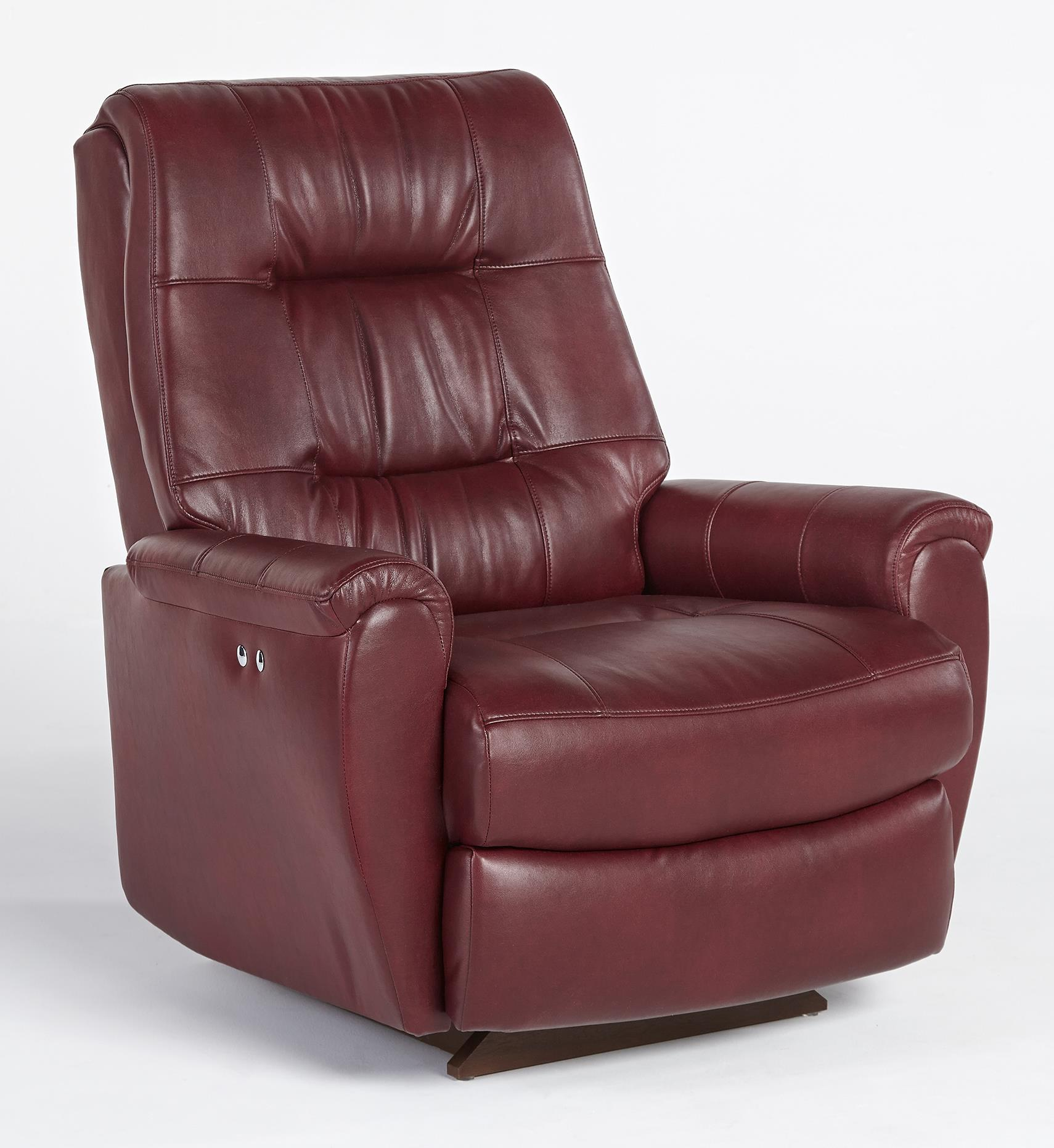 Felicia Swivel Rocker Recliner with ButtonTufted Back by