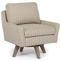 Seymour Mid Century Modern Chair with Swivel Base by Best