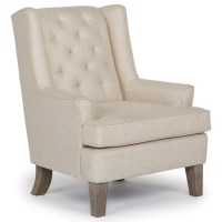 Rebecca Wing Chair with Tufted Back by Best Home ...