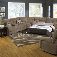 Recliner Sectional Sleeper Sofa Custom Sofas Houston Texas Reclining With By Catnapper Wolf And