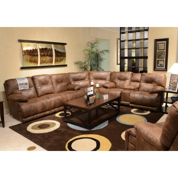 Power 6 Seat Lay Flat Reclining Sectional Seating Catnapper Wolf Furniture