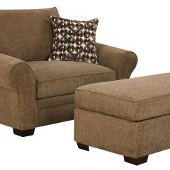 Living Room Chair With Ottoman Ergonomic Bahrain Extra Large And A Half Set For Casual Styled Comfort