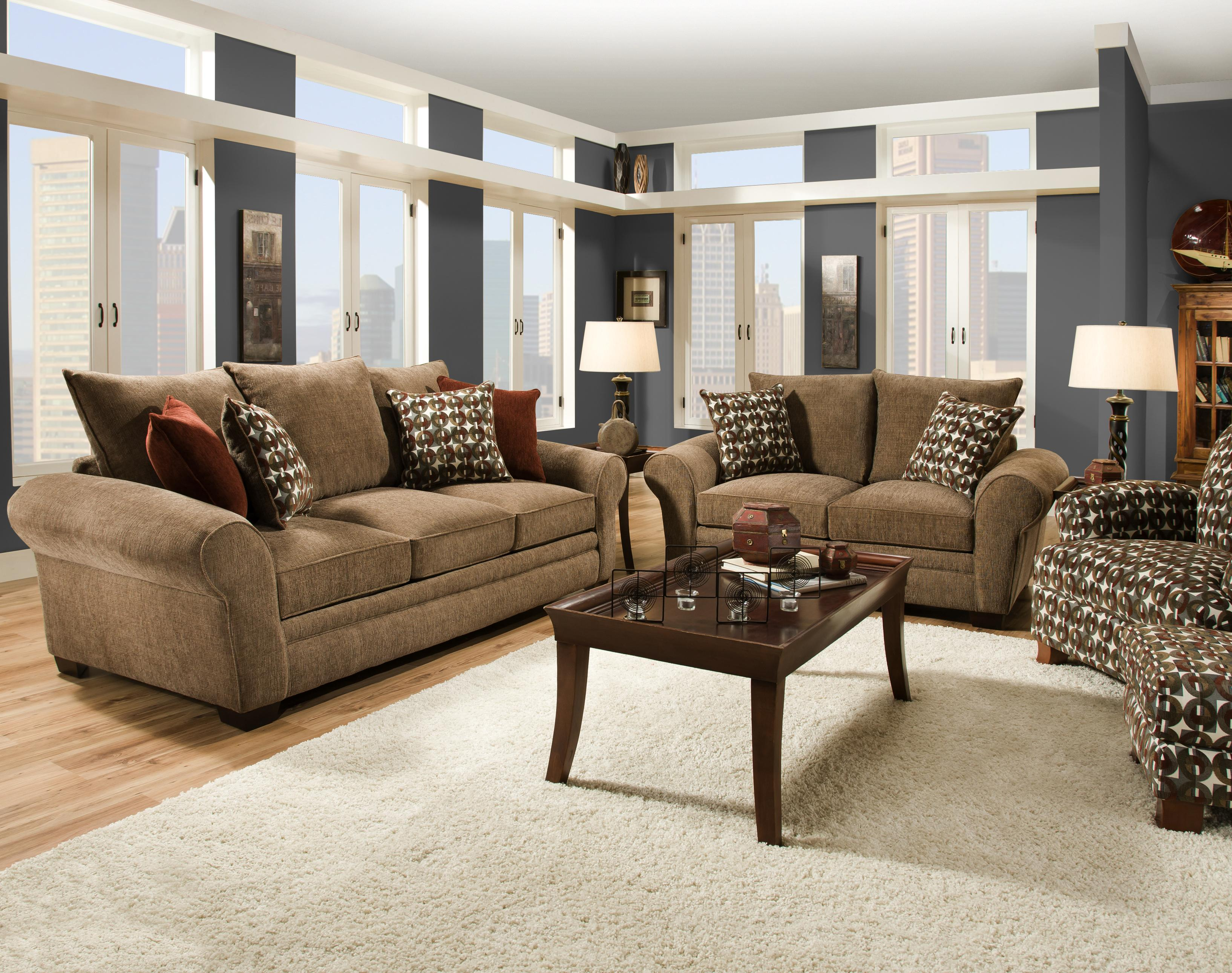 Elegant And Casual Living Room Sofa For Family Styled