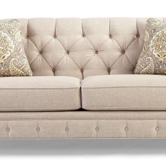 Tufted Button Sofa Green Vine Traditional With Wide Flared Arms By Craftmaster