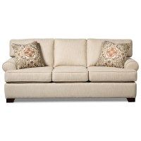 Casual Queen Sleeper Sofa with Rolled Arms and Memory Foam ...
