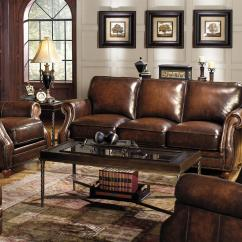 Reclining Sofa With Nailhead Trim Dania Sleeper Sofas Traditional Leather Stationary Chair Rolled Arms And