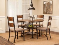 5 Piece Metal and Wood Dining Set by Cramco, Inc