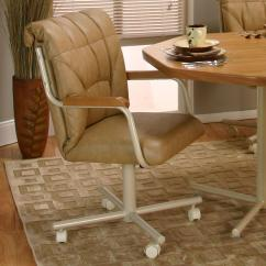 Dining Chairs On Casters Swivel Chair Plush Tilt With By Cramco Inc Wolf And