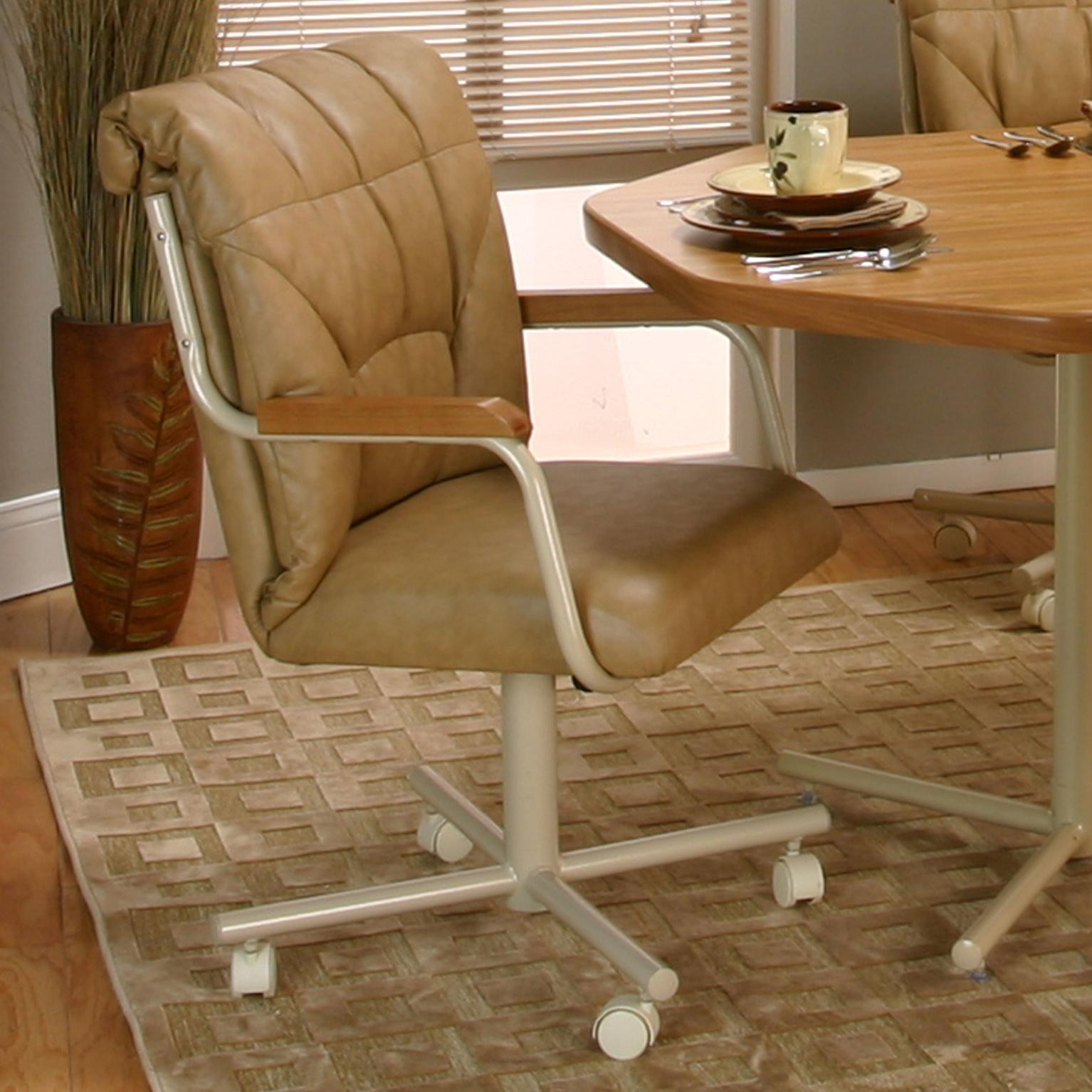 Swivel Living Room Chairs Tilt Swivel Dining Chair With Casters By Cramco Inc Wolf And