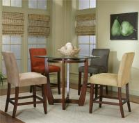Round Counter Height Dining Table with Micro-Suede Chair ...