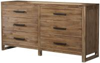 Six-Drawer Modern Rustic Dresser with Full-Extension ...