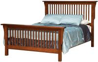 California King Mission-Style Frame Bed with Headboard ...