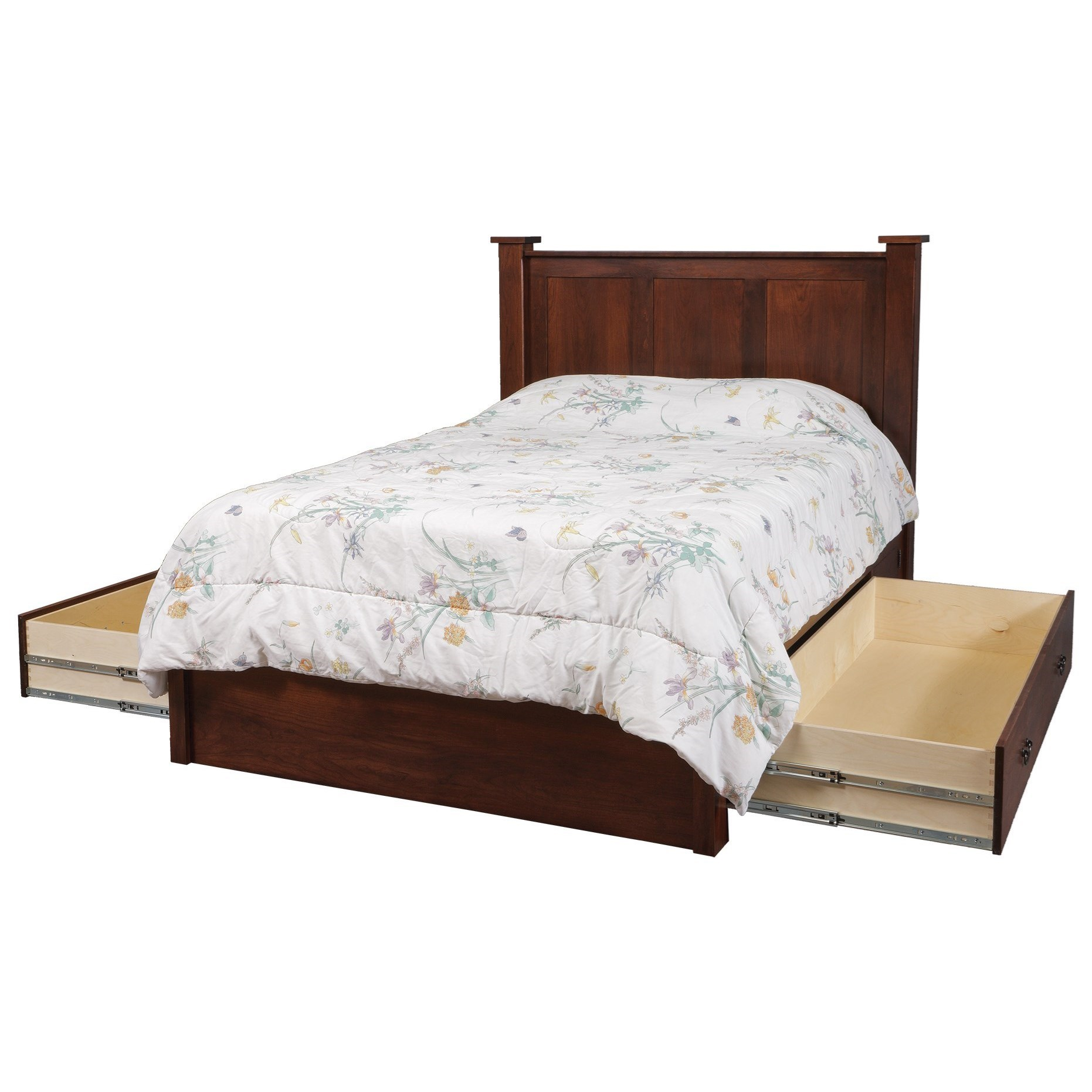 California King Pedestal Bed W 60 Storage Drawer On Each