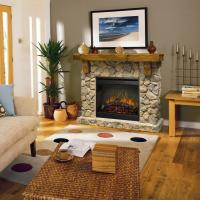 Rustic Fieldstone Flat-Wall Fireplace by Dimplex | Wolf ...