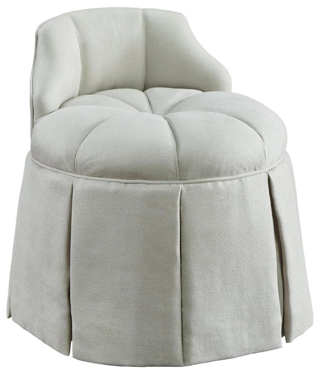 Tufted Vanity Chair Chloe Vanity Stool With Tufted Swivel Seat By Fine Furniture Design
