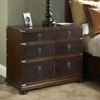 Leather Front Bedside Chest of Drawers by Fine Furniture ...