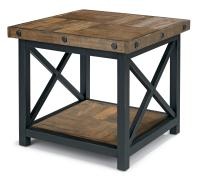 Square End Table with Wood Plank Top by Flexsteel | Wolf ...
