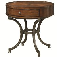 Round End Table with 1 Drawer by Hammary