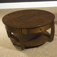 Round Coffee Table With Drawer