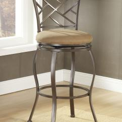 Counter Height Chairs With Back Double Adirondack Chair Plans 24 Hanover Swivel Stool By Hillsdale Wolf And