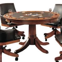 Round Flip Top Gaming/Dining Table by Hillsdale | Wolf and ...