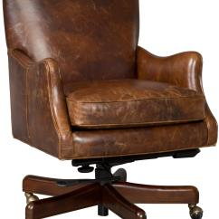 Distressed Leather Desk Chair Washable Bean Bag Chairs Executive Tilt Swivel Thin Track Arms By Hooker Furniture