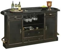 Burnished Black Bar Cabinet by Howard Miller | Wolf and ...