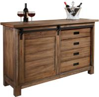 Homestead Wine and Bar Cabinet with Sliding Door by Howard ...