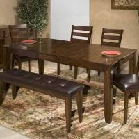 Solid Mango Wood Dining Table with Butterfly Leaf by ...