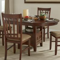 Oval Dining Table with Storage Pedestal by Intercon | Wolf ...