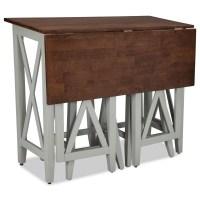 Two-Tone Drop Leaf Breakfast Bar Table by Intercon | Wolf ...