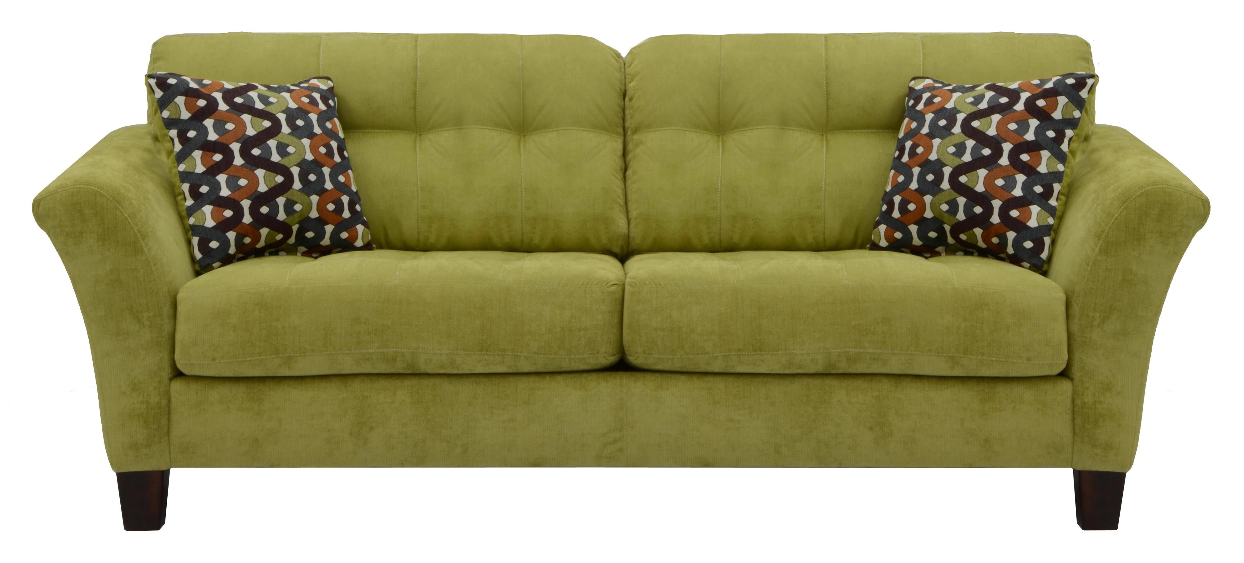2 cushion sofa small angled sectional with seats and tufted back cushions by jackson furniture
