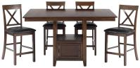 Casual Counter Height Rectangle Table with Storage ...