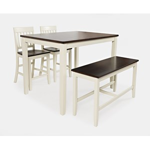 table and chairs with bench chair cover elegance omaha dining room furniture jofran casual sets