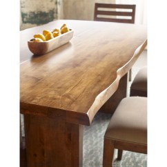 Live Edge Kitchen Table Square Oak Cutler Trestle Dining By Kincaid Furniture Wolf