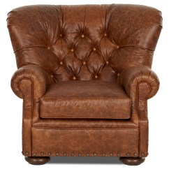Leather Chair Ottoman Set Ebay High Tufted And By Klaussner Wolf