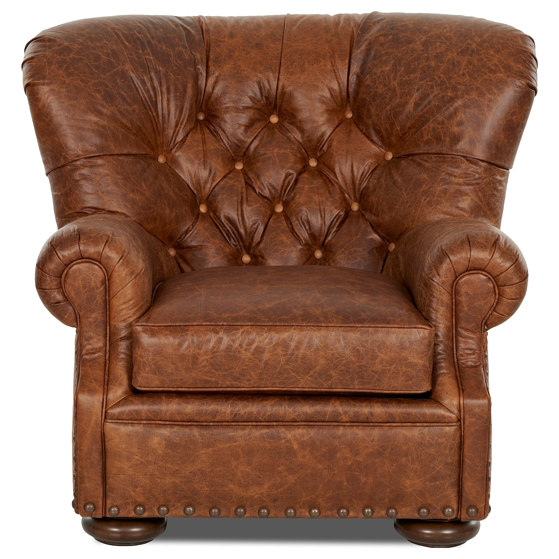 Leather Chair And Ottoman Tufted Leather Chair And Ottoman Set By Klaussner Wolf And
