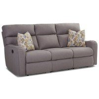 Reclining Sofa with Throw Pillows by Klaussner | Wolf and ...