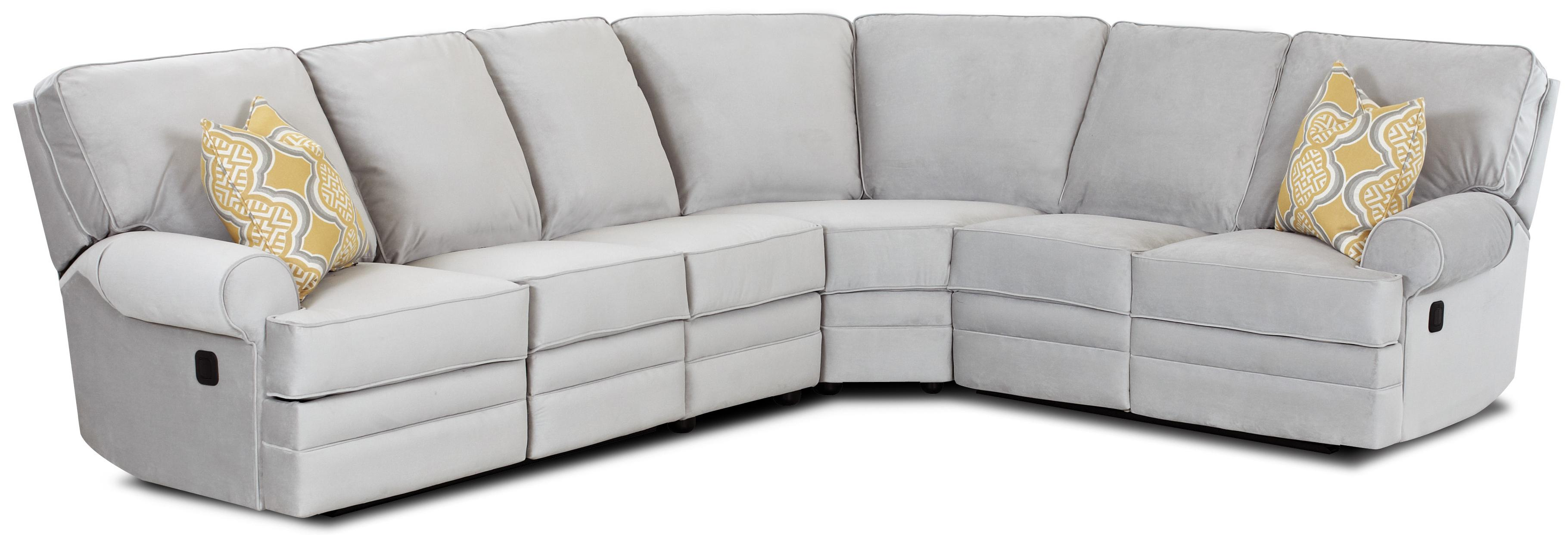 Classic Reclining Sectional Sofa with Rolled Arms by