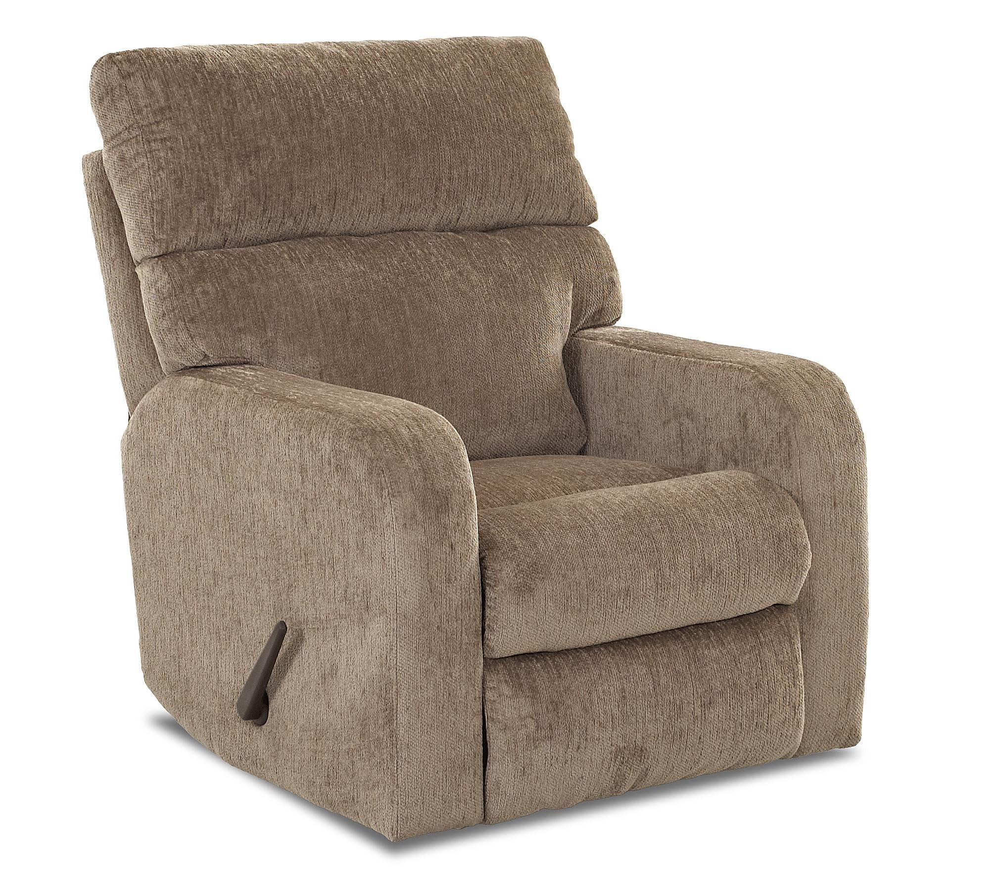 Casual Swivel Rocking Reclining Chair by Klaussner  Wolf