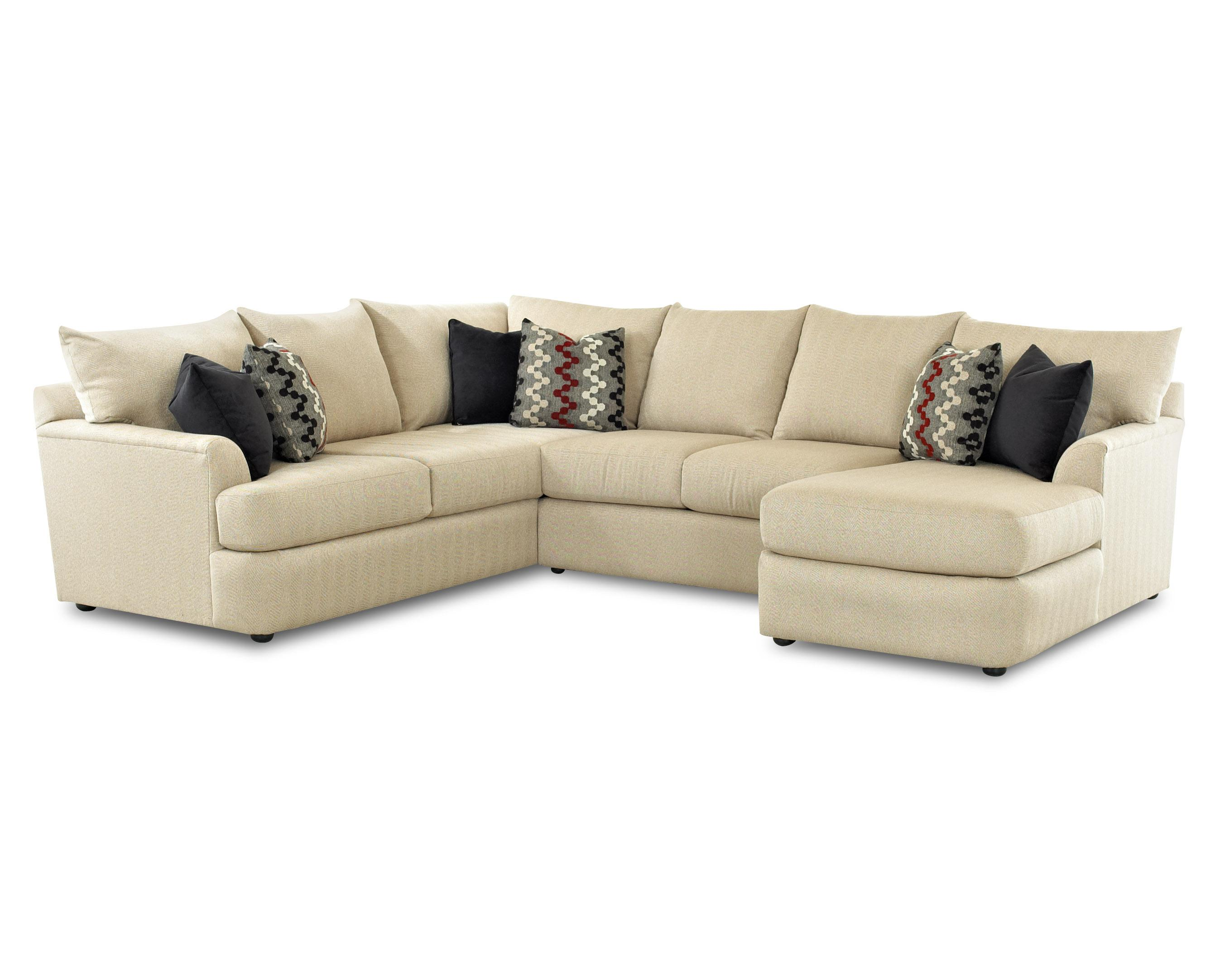 Sectional Sofa With Right Arm Chaise Lounger by Klaussner
