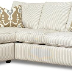 Sofa W Chaise Microfiber Futon Bed With Storage Reversible Lounge By Klaussner Wolf And Gardiner