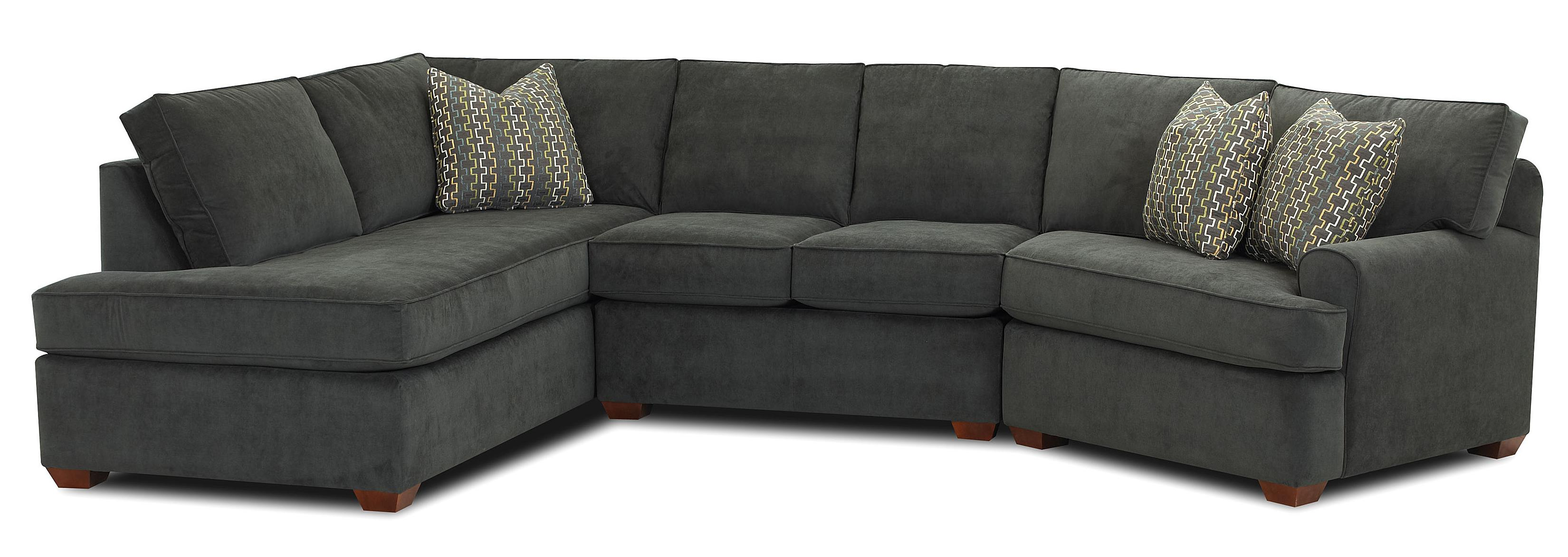 right arm facing sofa left chaise fabric brands india sectional with left-facing by klaussner ...