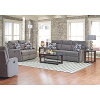 Reclining Sofa with Soft Track Arms and Pillows by ...