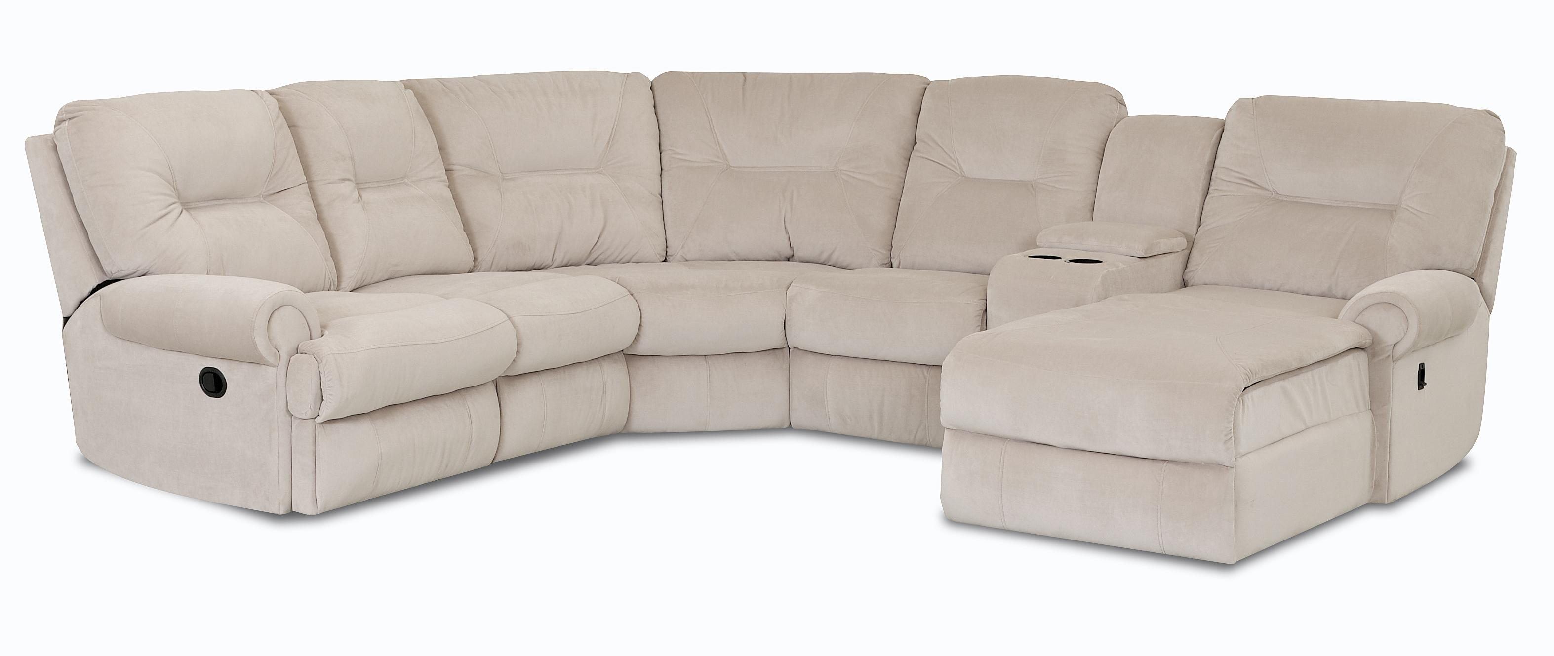 Traditional Reclining Sectional Sofa by Klaussner  Wolf